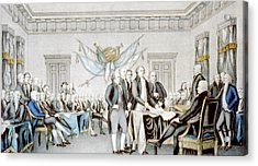 Signing The Declaration Of Independence Acrylic Print by American School