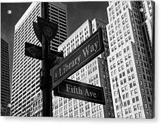 Signs Acrylic Print by Jessica Jenney