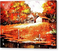 Signs Of Autumn Acrylic Print