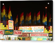 Signs Of Food At The Carnival Acrylic Print by James BO  Insogna