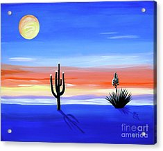 Acrylic Print featuring the painting Silellnt Shadows by Phyllis Kaltenbach