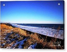 Silence At Black Sand Beach Acrylic Print