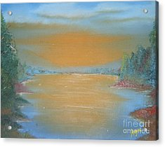 Acrylic Print featuring the painting Silence by Barbara Hayes
