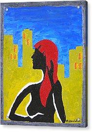 Silence In The City Acrylic Print by Ricklene Wren