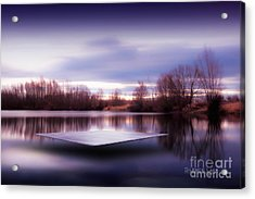 Acrylic Print featuring the photograph Silence Lake  by Franziskus Pfleghart
