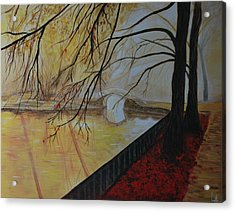 Acrylic Print featuring the painting Silence by Leslie Allen