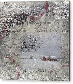 Silence Acrylic Print by Nadine Berg