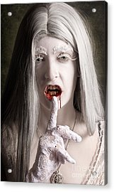 Silent Evil White Vampire Woman. Monster Secret Acrylic Print by Jorgo Photography - Wall Art Gallery