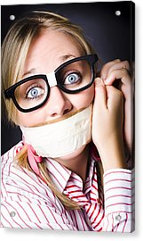 Silent Face Of Business Fear And Stress Acrylic Print