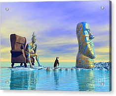Acrylic Print featuring the digital art Silent Mind - Surrealism by Sipo Liimatainen