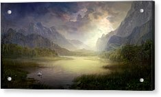 Silent Morning Acrylic Print by Philip Straub