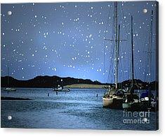 Silent Night Harbor Acrylic Print