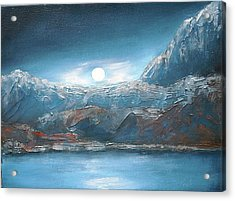 Silent Night In Silver Acrylic Print by Anne Thomassen