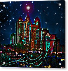 Silent Night Philly Night Acrylic Print by Jonathan Shaps