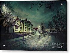 Silent Night Street Acrylic Print