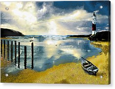 Silent Ocean Acrylic Print by Anne Weirich