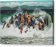 Acrylic Print featuring the painting Silent Screams by Eric Kempson