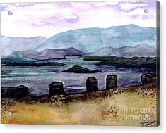 Acrylic Print featuring the painting Silent Sentinels by Patricia Griffin Brett