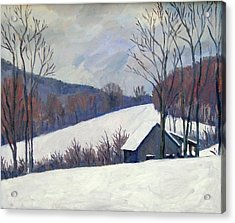 Silent Snow Berkshires Acrylic Print by Thor Wickstrom