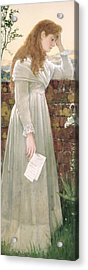 Silent Sorrow Acrylic Print by Walter Langley