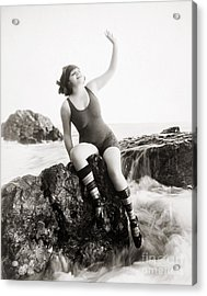 Silent Still: Bather Acrylic Print by Granger