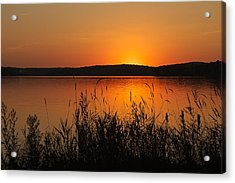 Silent Sunset Acrylic Print by Penny Meyers