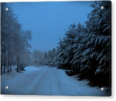 Acrylic Print featuring the photograph Silent Winter Night  by David Dehner