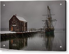 Silently The Snow Falls. Acrylic Print by Jeff Folger