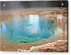 Silex Spring Fountain Paint Pot Yellowstone National Park Wy Acrylic Print by Christine Till