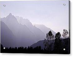 Silhouette Austria Europe Acrylic Print by Sabine Jacobs