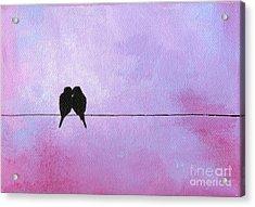 Silhouette Birds Acrylic Print