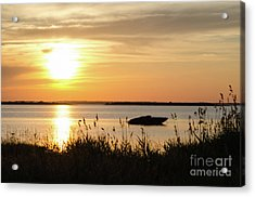Acrylic Print featuring the photograph Silhouette By Sunset by Kennerth and Birgitta Kullman