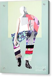 Acrylic Print featuring the mixed media Silhouette by Elena Nosyreva