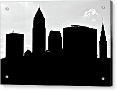 Silhouette Of The Big City Acrylic Print