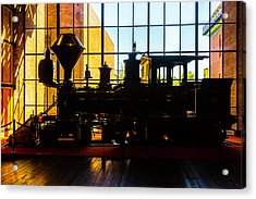 Silhouette Of The C.p. Huntington Acrylic Print by Garry Gay