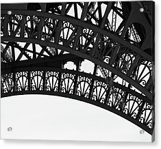 Acrylic Print featuring the photograph Silhouette - Paris, France by Melanie Alexandra Price