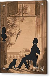 Silhouette Profile Of Artist Charles Fenderich, 1841 Acrylic Print