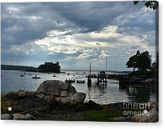 Silhouetted Views From Bustin's Island In Maine Acrylic Print