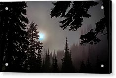 Silhouettes In The Mist 2008 Acrylic Print