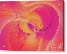 Silk Abstract Acrylic Print by Deborah Benoit