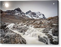Acrylic Print featuring the photograph Silky Melt Water Of Athabasca Glacier by Pierre Leclerc Photography