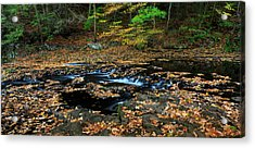Silky New England Stream In Autum Acrylic Print