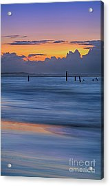 Acrylic Print featuring the photograph Silky Sunrise Reflections Outer Banks by Dan Carmichael