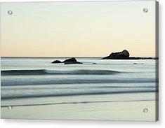 Silky Water And Rocks On The Rhode Island Coast Acrylic Print