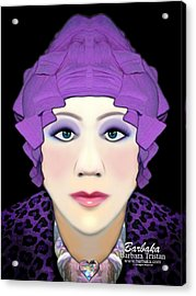 Acrylic Print featuring the photograph Silly Headdress by Barbara Tristan