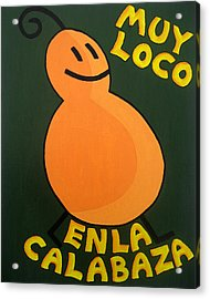 Silly Squash Acrylic Print by Oliver Johnston