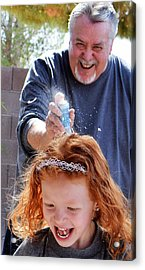 Silly String Attack Acrylic Print by John Glass