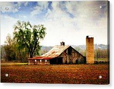 Silo Tree Barn Acrylic Print