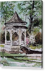 Siloam Springs Park Acrylic Print by Monte Toon