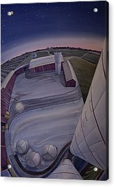Acrylic Print featuring the painting Silos Looking Down by Scott Kirby